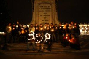 350.org in Nancy in 2009