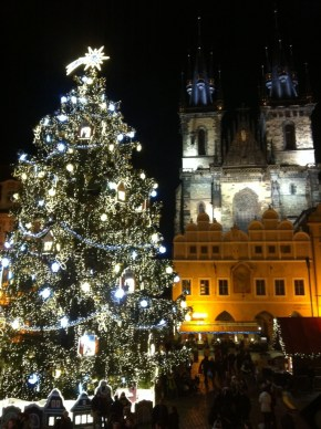 Prague Old Town Square Christmas Tree
