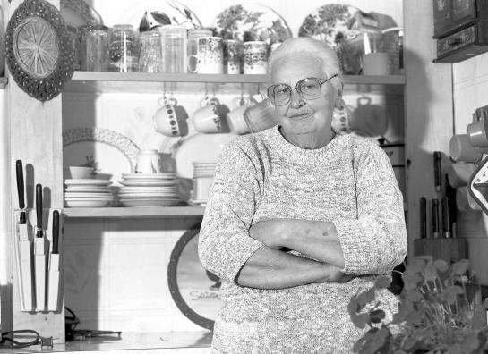 Grandma in kitchen