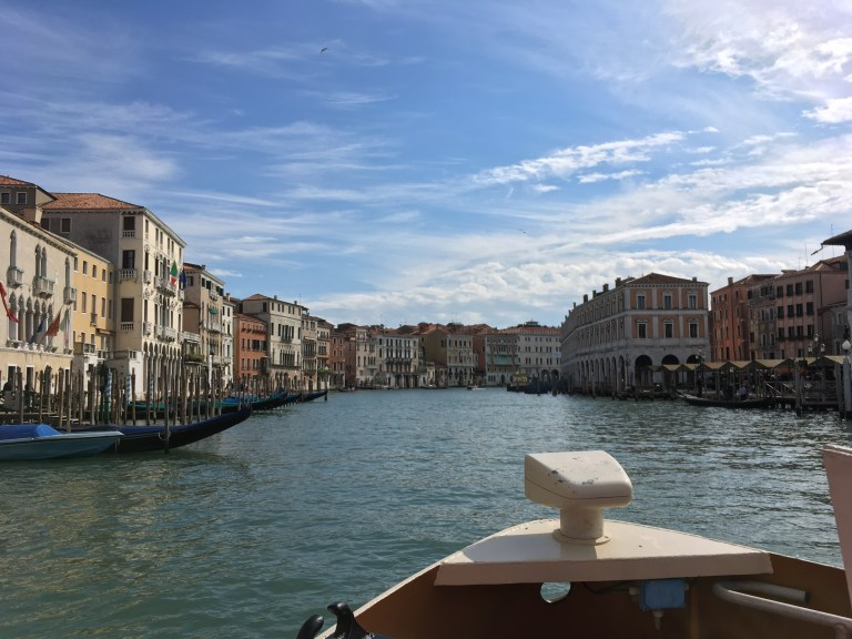 View from the Vaporetto #1 Tour of the Grand Canal, Venice