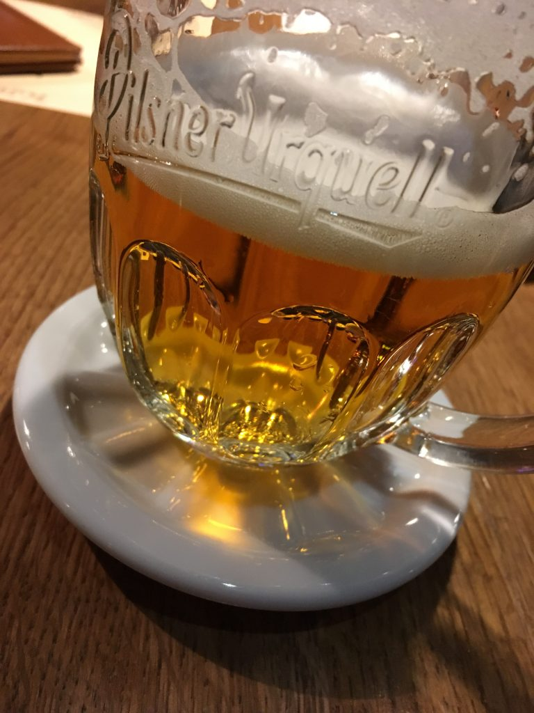 Prague beer coaster