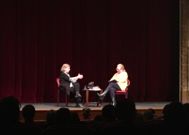 Elizabeth May speaking at UBC
