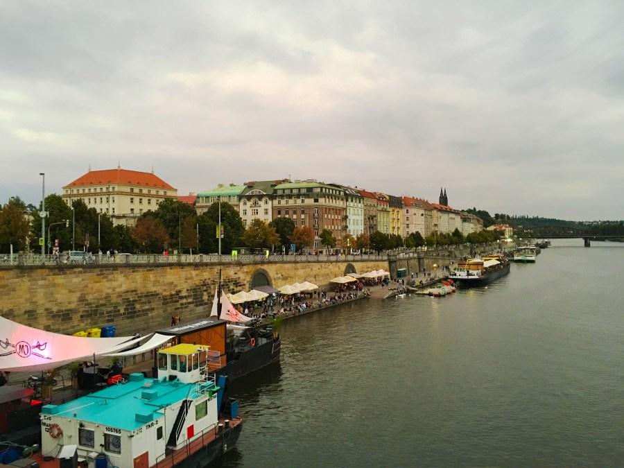 Naplavka is one of the best beer gardens in Prague