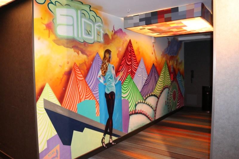 Hallway art at the Aloft hotel in Downtown Denver