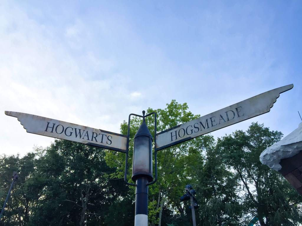 Hogsmeade street sign at the wizarding world of harry potter