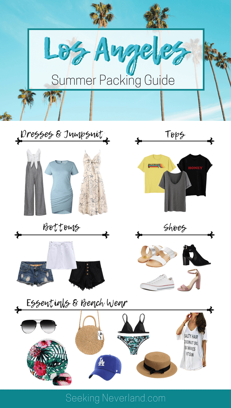 what to pack for los angeles in summer
