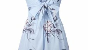 7cb885df94b Murimia Women s Summer V-Neck Floral Spaghetti Strap Short Rompers and  Jumpsuits