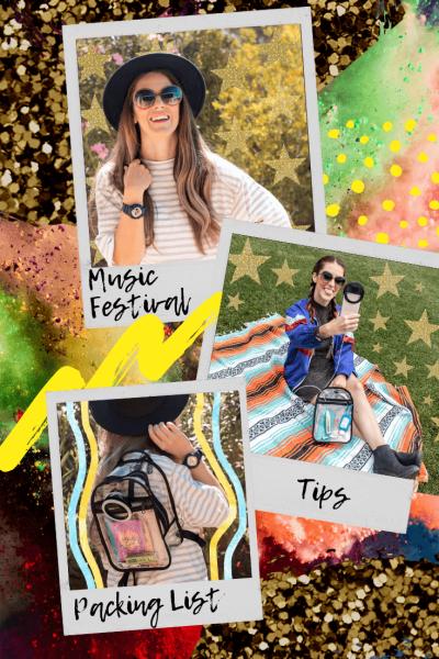 music festival tips packing list