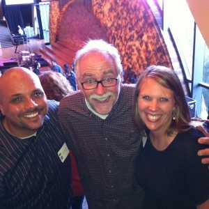 Eric, Bob Goff, and Corinn at Love Does Austin