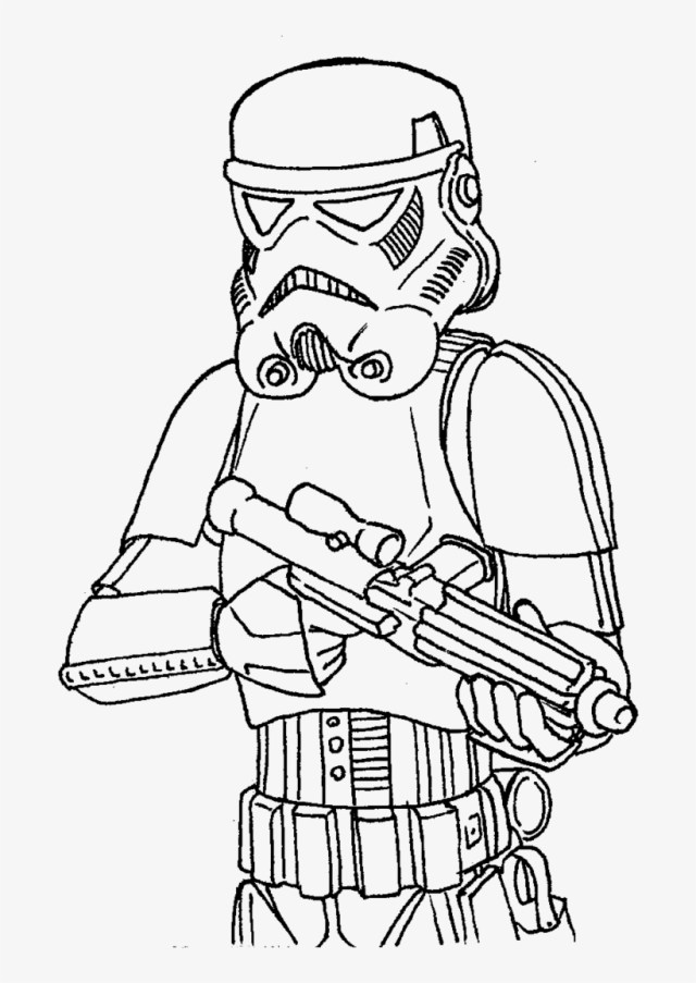 Star Wars Stormtrooper Coloring Pages - Best Drawing Of Star Wars