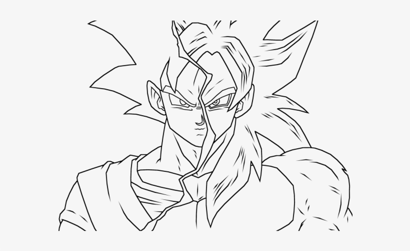 Homey Idea Goku Coloring Pages Games Super Saiyan Ss4 Dbz Goku Coloring Page Png Image Transparent Png Free Download On Seekpng