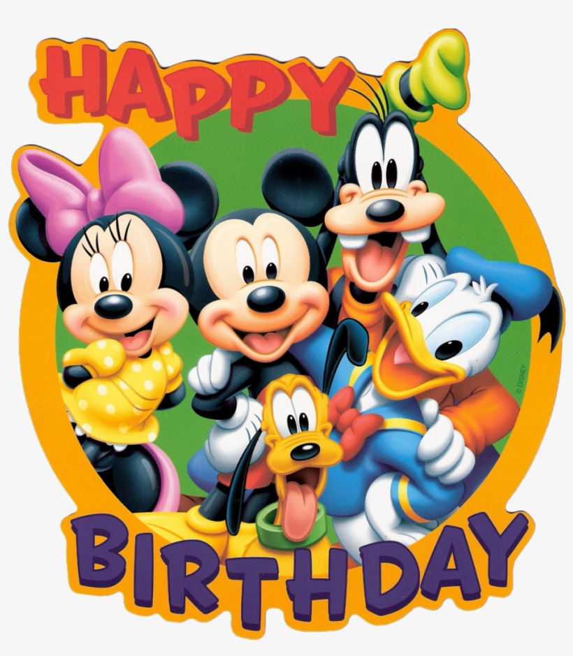 Happy Birthday Mickey Mouse Png Happy Birthday With Cartoon Png Image Transparent Png Free Download On Seekpng