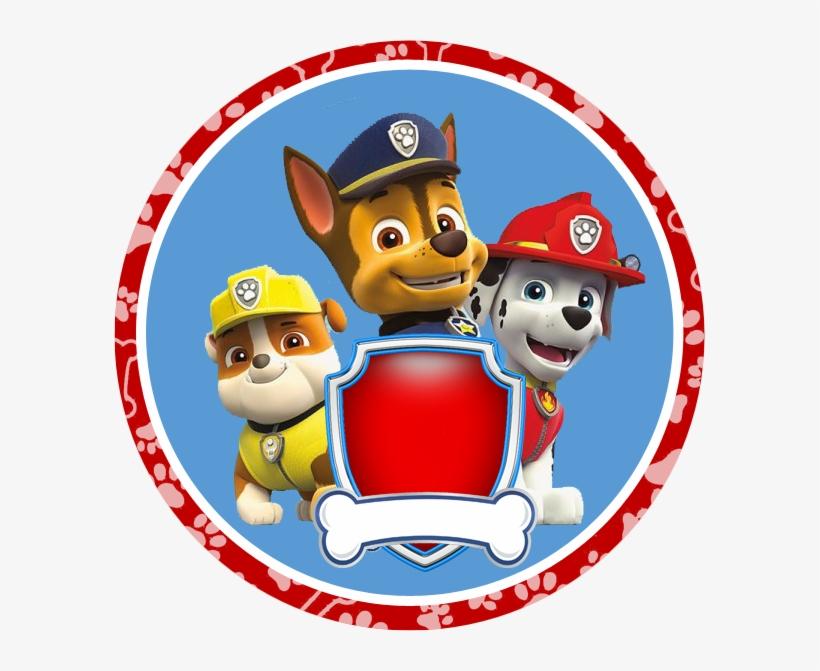 Paw Patrol Badges Free Printable Birthday Banner Red Adesivo Redondo Patrulha Canina Png Image Transparent Png Free Download On Seekpng