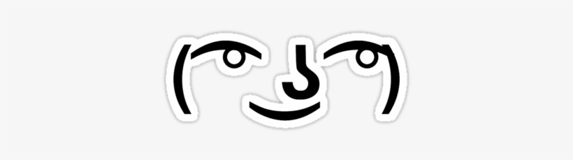 Simple Lenny Face Meme Lenny Face Meme Design Stickers Lenny