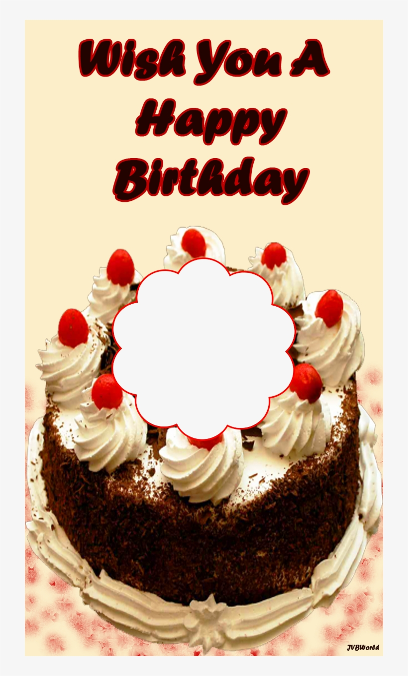 Beautiful Birthday Frames With Cake Beautiful Photo Frame Happy Birthday Png Image Transparent Png Free Download On Seekpng