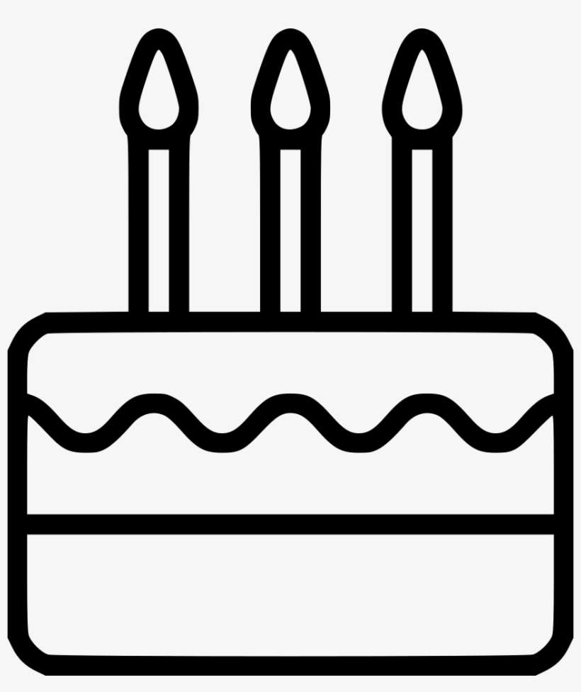 Birthday Cake Comments Birthday Cake Clip Art Black And White Png Png Image Transparent Png Free Download On Seekpng