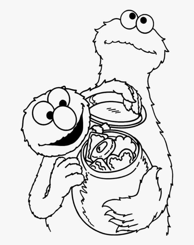Elmo And Friends See Rainbow Coloring Pages - Coloring Book PNG