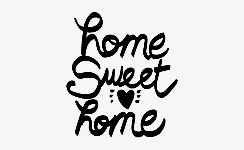 home sweet home text sticker home