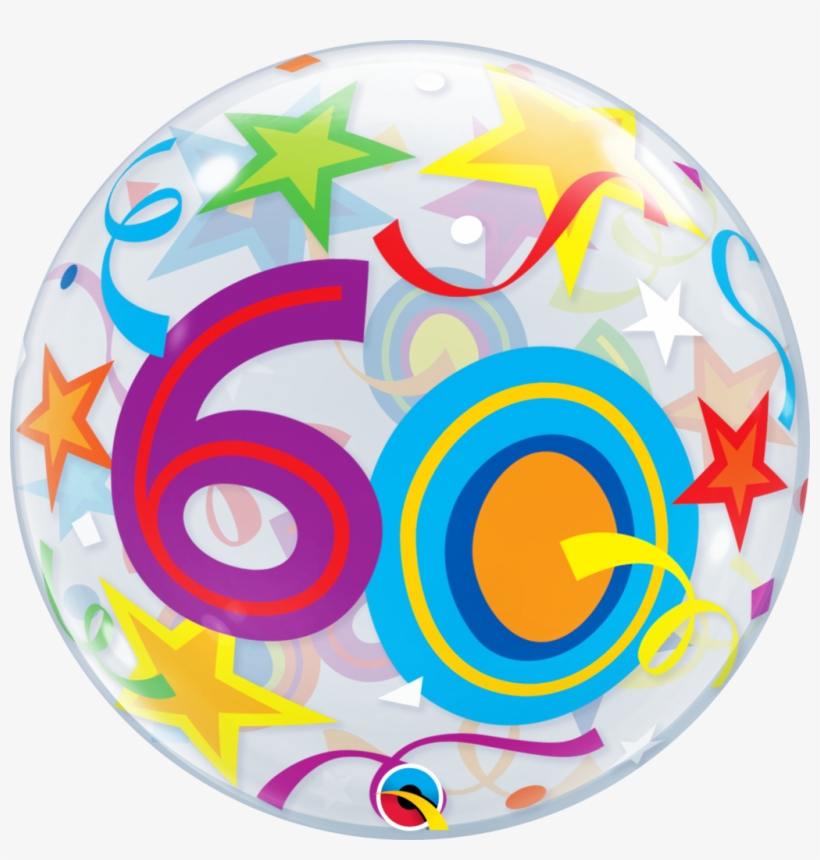 Image Transparent 60th Birthday Clipart 22 60 Brilliant Stars Plastic Bubble Balloons Mylar Png Image Transparent Png Free Download On Seekpng