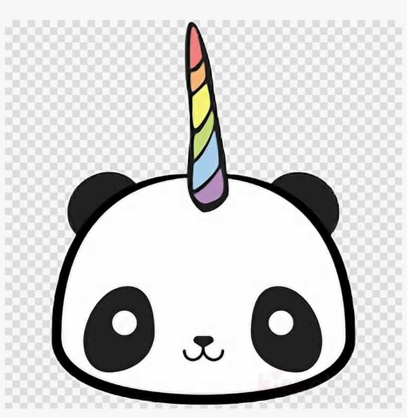Kawaii Panda Unicorn Clipart Giant Panda T Shirt Clip Imagens De Panda Unicornio Png Image Transparent Png Free Download On Seekpng
