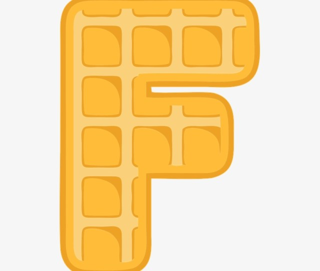 F Alphabet Waffle Letter Typography Text Font Waffle Letter