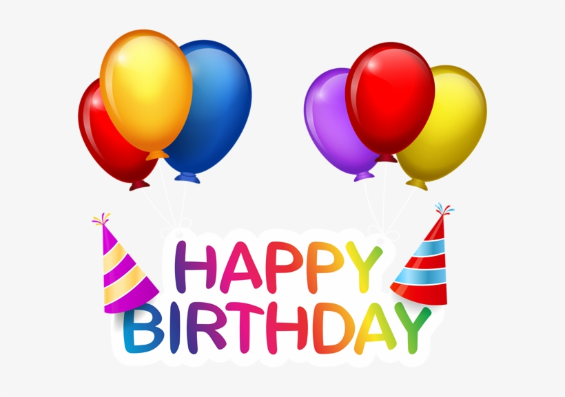 Happy Birthday With Balloons Png Clip Art Happy Birthday Balloon Png Png Image Transparent Png Free Download On Seekpng
