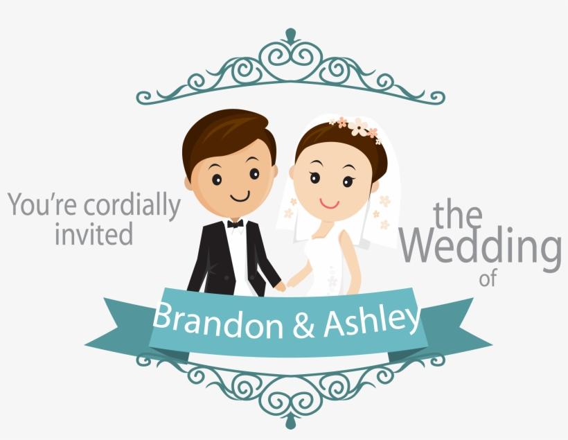 cartoon wedding card background png
