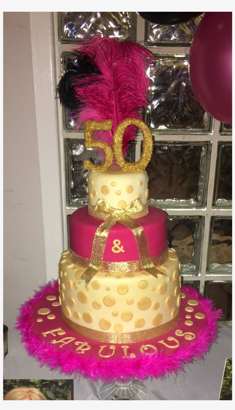 Three Tiered 50th Birthday Cake Png Image Transparent Png Free Download On Seekpng