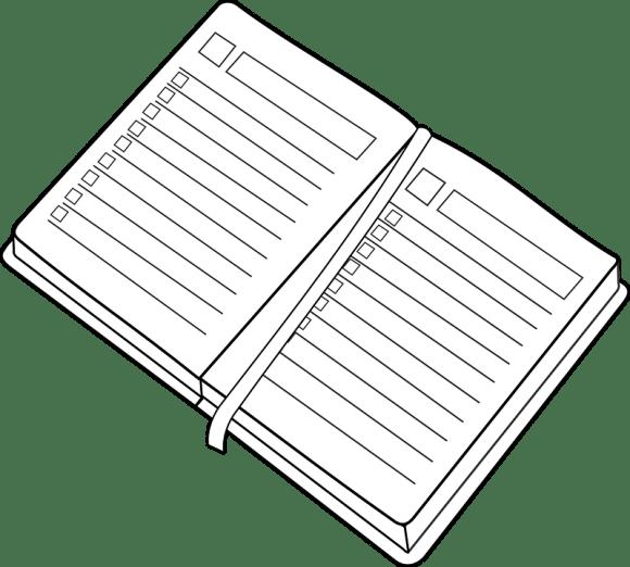 Planner Clipart Spiral Notebook Planner Clipart Transparent Full Size Png Download Seekpng