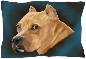 zazzle roter pitbull hund poster