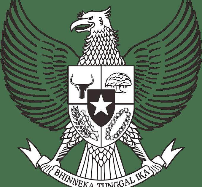 Logo Burung Garuda Hitam Putih