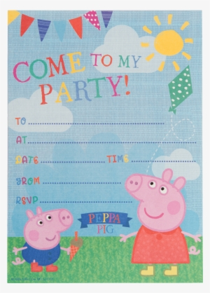 peppa pig party invitations tether