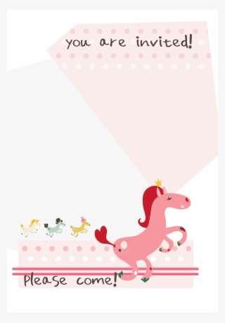 birthday pony free printable invitation