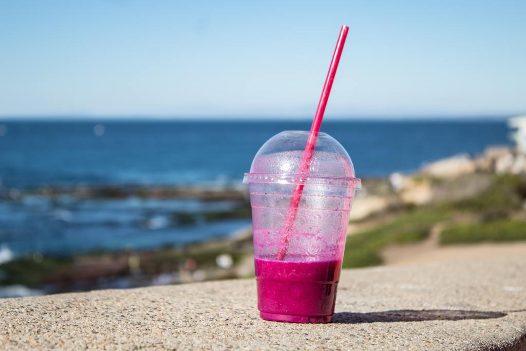 Out with single use straws