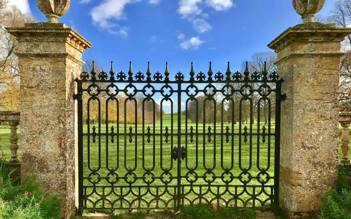 The Montacute House lawn