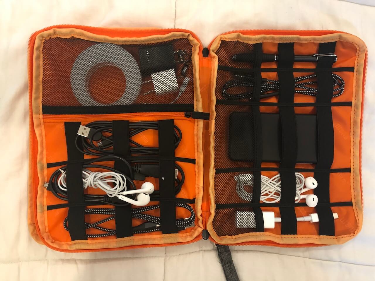 c45709dde91c The Electronics Travel Organizer Bag that I'll Never Travel Without – BUBM  Travel Cable Organizer Review