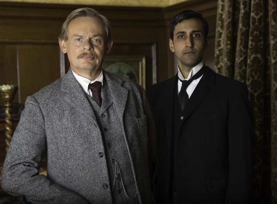 MARTIN CLUNES as Arthur and ARSHER ALI as George. Image: ITV/DOYLE 2014 LTD.