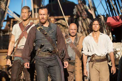 (l-r Tom Hopper, Toby Stephens, Mark Ryan, Luke Arnold)