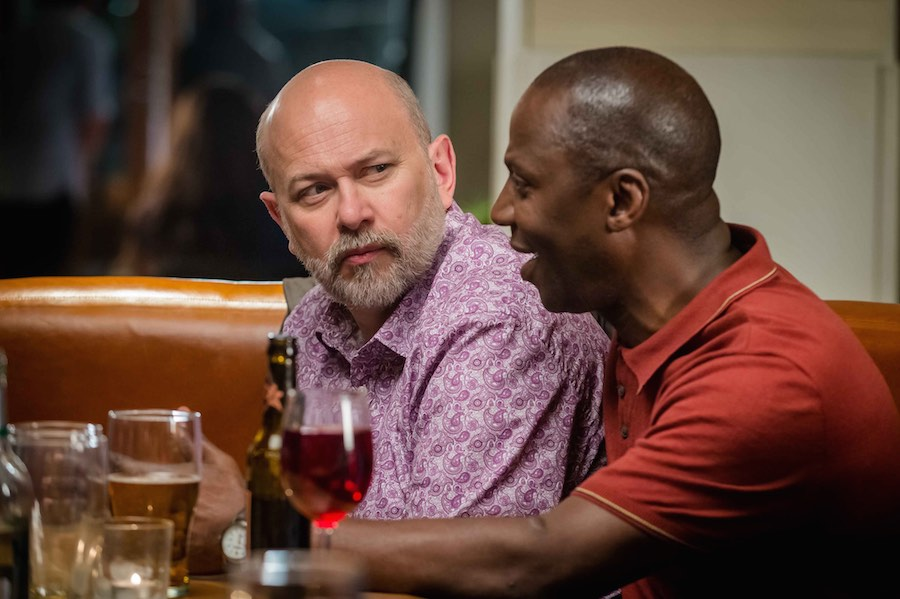 Vincent Franklin as Henry and Cyril Nri as Lance. Image: Channel 4/Ben Blackall