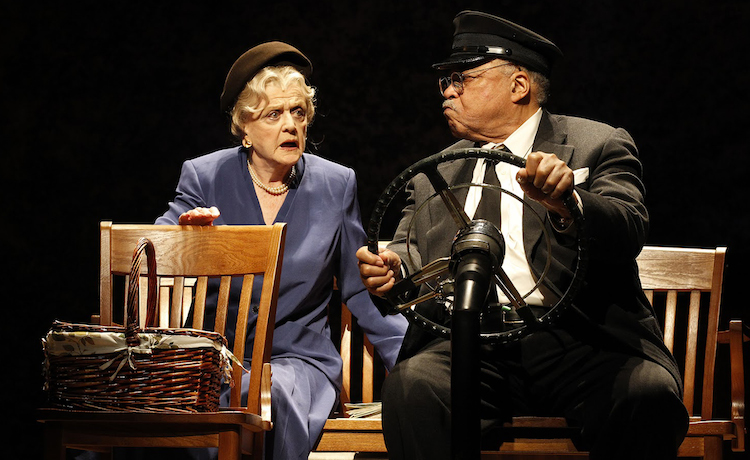 Dame Angela and James Earl Jones in Driving Miss Daisy: The Play. Image: BFI/Jeff Busby