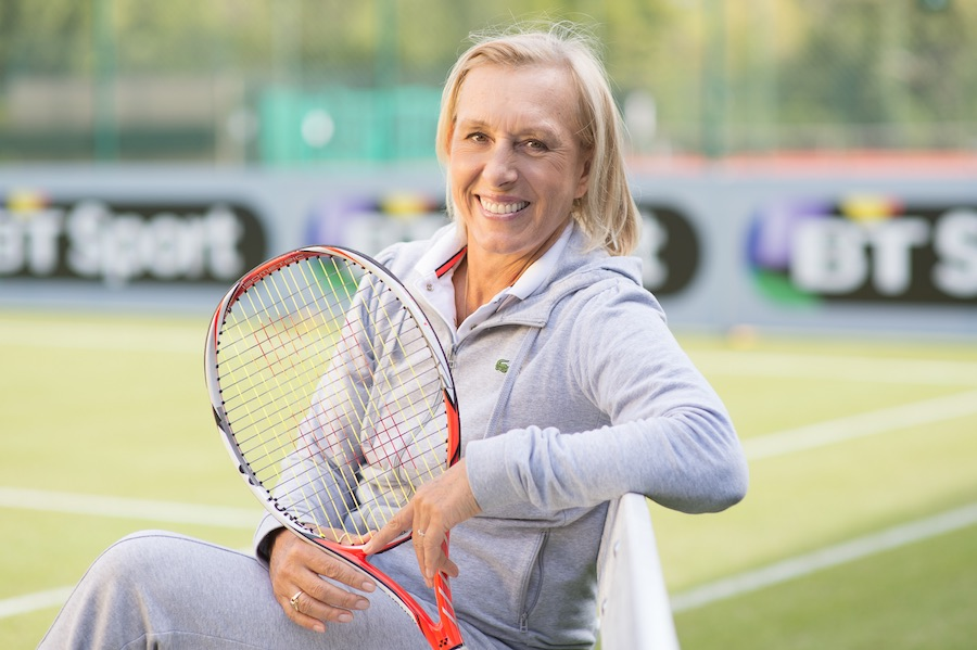 BT Sport's tennis coverage includes commentary and analysis by Martina Navratilova