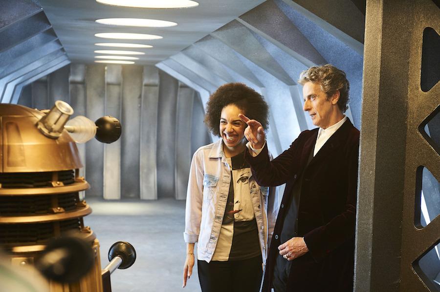 Pearl Mackie and Peter Capaldi in . Image: BBC/Ray Burmiston