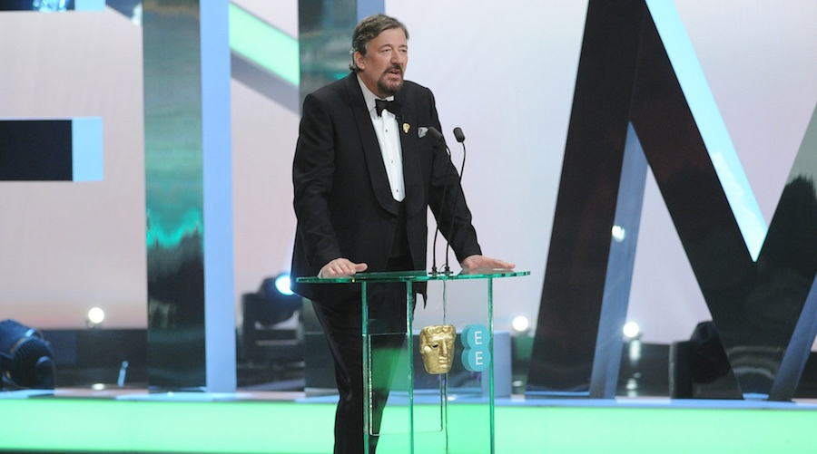 Stephen Fry will return for his 10th show as host. Image: BAFTA