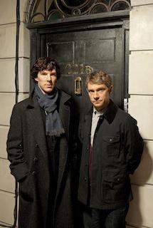 Benedict Cumberbatch and Martin Freeman star in Sherlock. Image: BBC/Hartswood Films