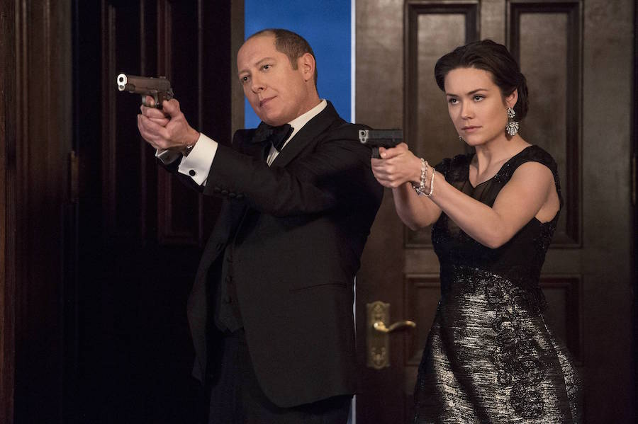 James Spader and Megan Boone star In The Blacklist. © Sony Pictures Television.