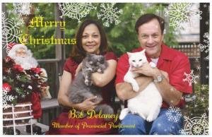 Christmas card from Bob and Andrea