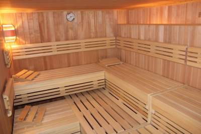 Finnische Sauna von Innen
