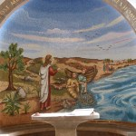Jesus calling fishermen to be disciples, mosaic in Magdala church (Seetheholyland.net)