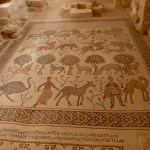 Mosaic dating from 425 in Arabian calendar (AD 531) on floor of old Mt Nebo baptistry (Seetheholyland.net)