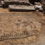 Mosaic floor with rosette design found at Magdala (© Magdala Center – Universidad Anáhuac México Sur)